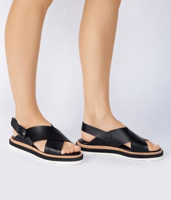 Кожаные сандалии ATTILIO GIUSTI LEOMBRUNI (AGL) 642026 черные