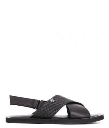 Кожаные сандалии BALDININI 097808 черные