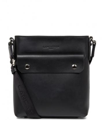 Кожаная сумка через плечо Lancaster 322-10 черная