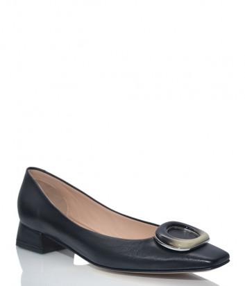 Кожаные туфли NAPOLEONI 3445 с квадратным носком черные