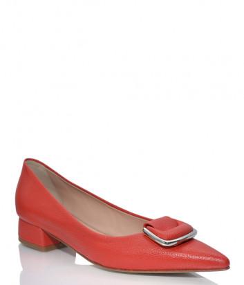Кожаные туфли NAPOLEONI 3687 с острым носком красные
