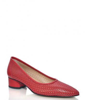 Красные туфли DONNA SOFT 708 в перфорированной коже