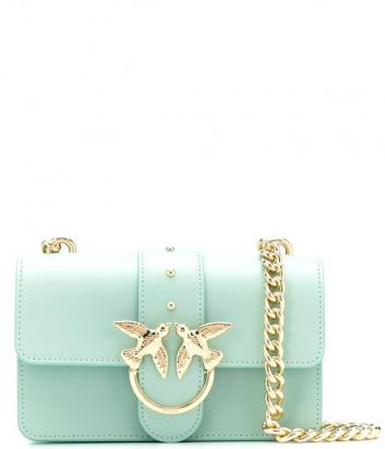 Маленькая сумочка на цепочке PINKO Love Bag 1P21EDY в гладкой коже мятная