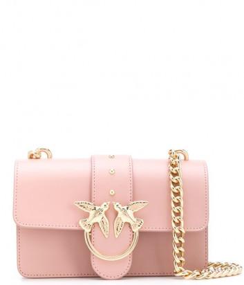 Маленькая сумочка на цепочке PINKO Love Bag 1P21EDY в гладкой коже нежно-розовая