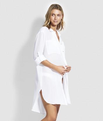 Длинная рубашка Seafolly 53108-CU из хлопка белая
