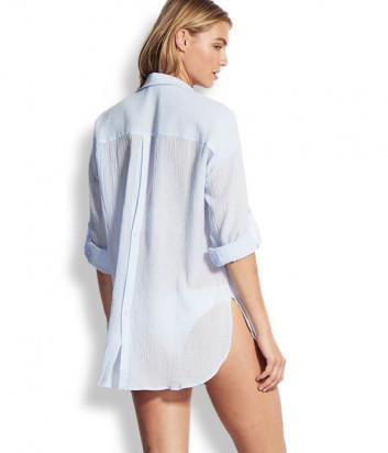 Рубашка Seafolly 54027-TO нежно-голубая