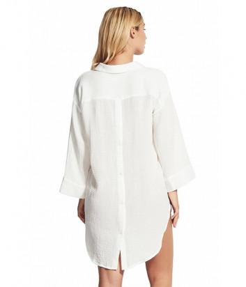 Длинная рубашка Seafolly 53796-TO белая
