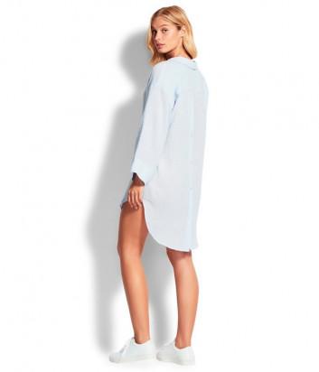 Длинная рубашка Seafolly 53796-TO нежно-голубая