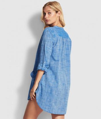 Рубашка Seafolly 52815-TO голубая