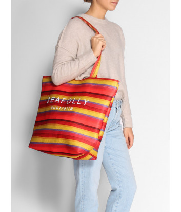 Пляжная сумка Seafolly 71561-BG в цветную полоску