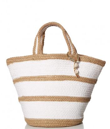 Пляжная соломенная сумка SEAFOLLY 71545-BG бежевая