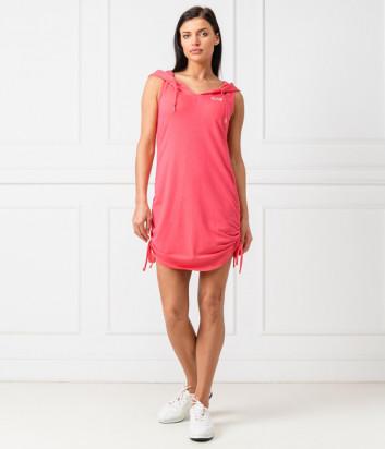 Спортивное платье EA7 EMPORIO ARMANI 3GTA56 TJ28Z розовое