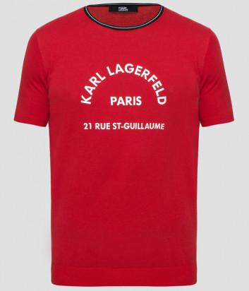 Футболка KARL LAGERFELD 655029 501301 красная с логотипом