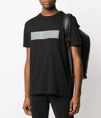 Черная футболка KARL LAGERFELD 755050 501224 с серебристой полоской