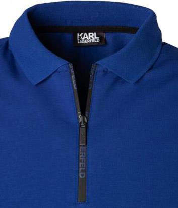 Мужское поло KARL LAGERFELD 755030 501221 синее