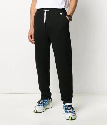 Трикотажные штаны KARL LAGERFELD Ikonik 705026 501900 черные