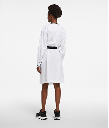 Платье-рубашка KARL LAGERFELD 205W1300 с карманами белое