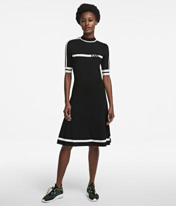 Трикотажное платье KARL LAGERFELD 205W2005 черное