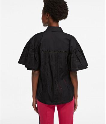 Рубашка KARL LAGERFELD 205W1609 с короткими рукавами черная