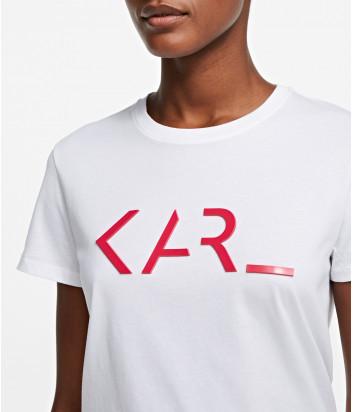 Футболка KARL LAGERFELD 205W1717 белая с логотипом