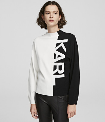 Свитер KARL LAGERFELD 205W2003 черно-белый