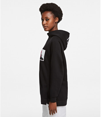 Худи KARL LAGERFELD 205W1820 черное с декоративным принтом и вышивкой