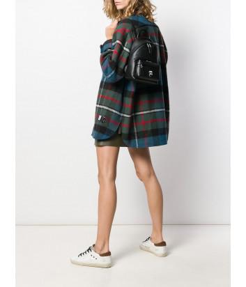 Маленький кожаный рюкзак KARL LAGERFELD Ikonik 205W3090 с металлическим значком