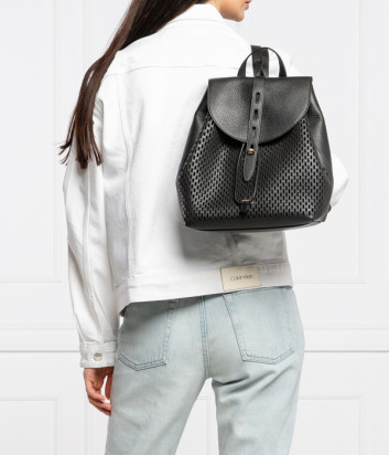 Рюкзак FURLA NET 1056790 в перфорированной коже черный
