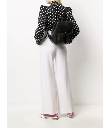 Черный рюкзак FURLA NET 1056797 в зернистой коже с внешними карманами