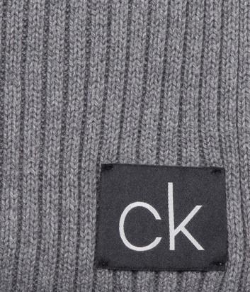 Шарф CALVIN KLEIN Basic Rib K50K504089 серый