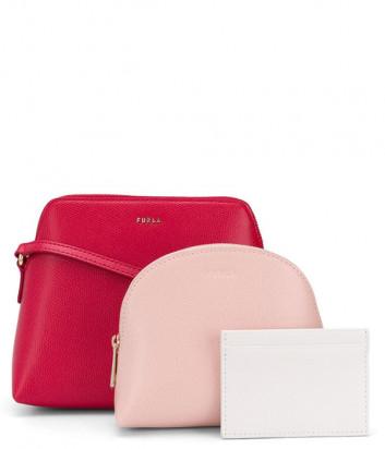 Набор матрешка FURLA Boheme EBC7B90 красная сумка и две цветные косметички