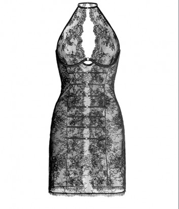 Кружевная ночная рубашка GRACIJA RIM Daniella 10258 черная