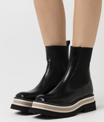 Кожаные ботинки PALOMA BARCELO Cajamar на платформе черные