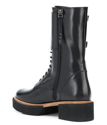 Высокие ботинки PALOMA BARCELO Samsun на шнуровке и с пряжками черные
