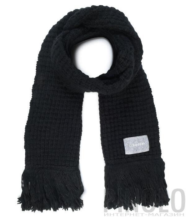 Шарф CALVIN KLEIN K60K604739 крупной вязки черный