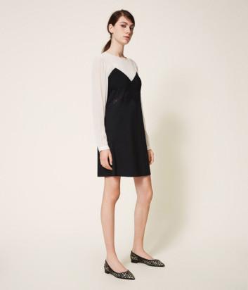 Платье TWIN-SET 202TP2311 со вставкой из кружева