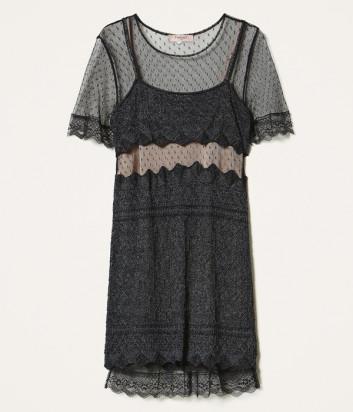 Платье TWIN-SET 202TP3040 из кружевного трикотажа