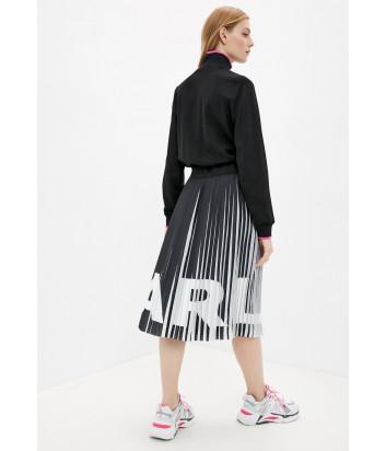Комбинированное платье KARL LAGERFELD 96KW1302 на молнии