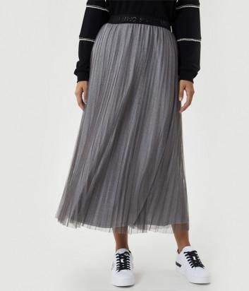 Плиссированная юбка миди LIU JO Sport TF0175J5789 серая