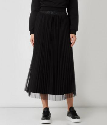 Плиссированная юбка миди LIU JO Sport TF0175J5789 черная