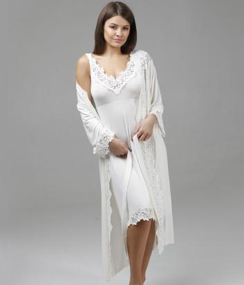 Комплект EFFETTO 10601C+10602C ночная рубашка и халат