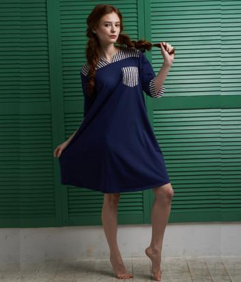 Платье EFFETTO 0127 синее