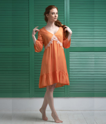 Туника EFFETTO 0129 оранжевая