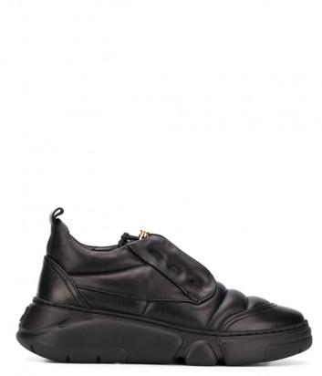 Кожаные кроссовки ATTILIO GIUSTI LEOMBRUNI (AGL) 938012 черные