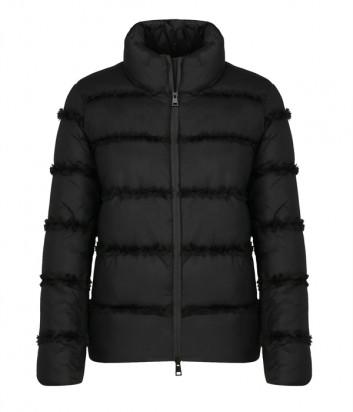Куртка TWIN-SET 202TP2020 декорированная рюшем черная