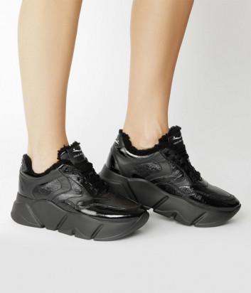 Кожаные кроссовки VOILE BLANCHE Monster Fur 2014293 на меху черные