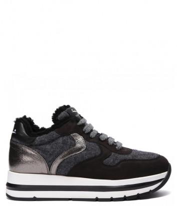 Кожаные кроссовки VOILE BLANCHE Maran Fur 2015235 на меху черные