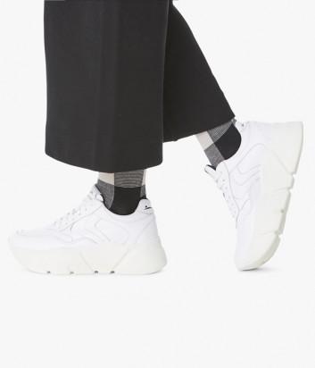 Кожаные кроссовки VOILE BLANCHE Monster 2014229 на платформе белые