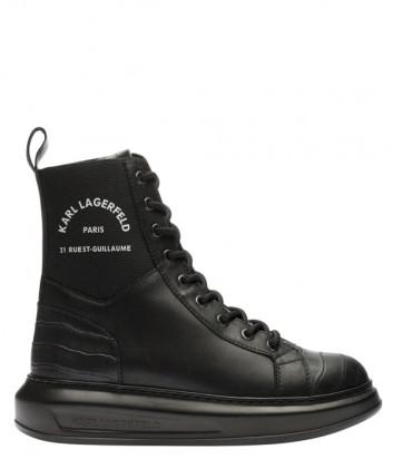 Кожаные ботинки KARL LAGERFELD KL62588 черные