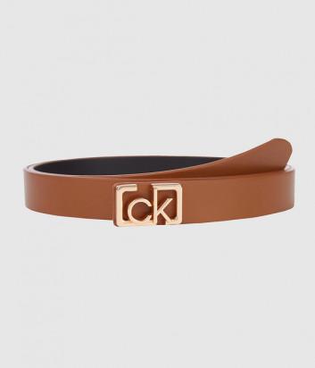 Кожаный ремень CALVIN KLEIN Jeans K60K607325 коричневый
